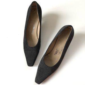 Salvatore Ferragamo kitten heels pumps vintage